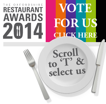 Oxforshire Restaurant Awards 2013